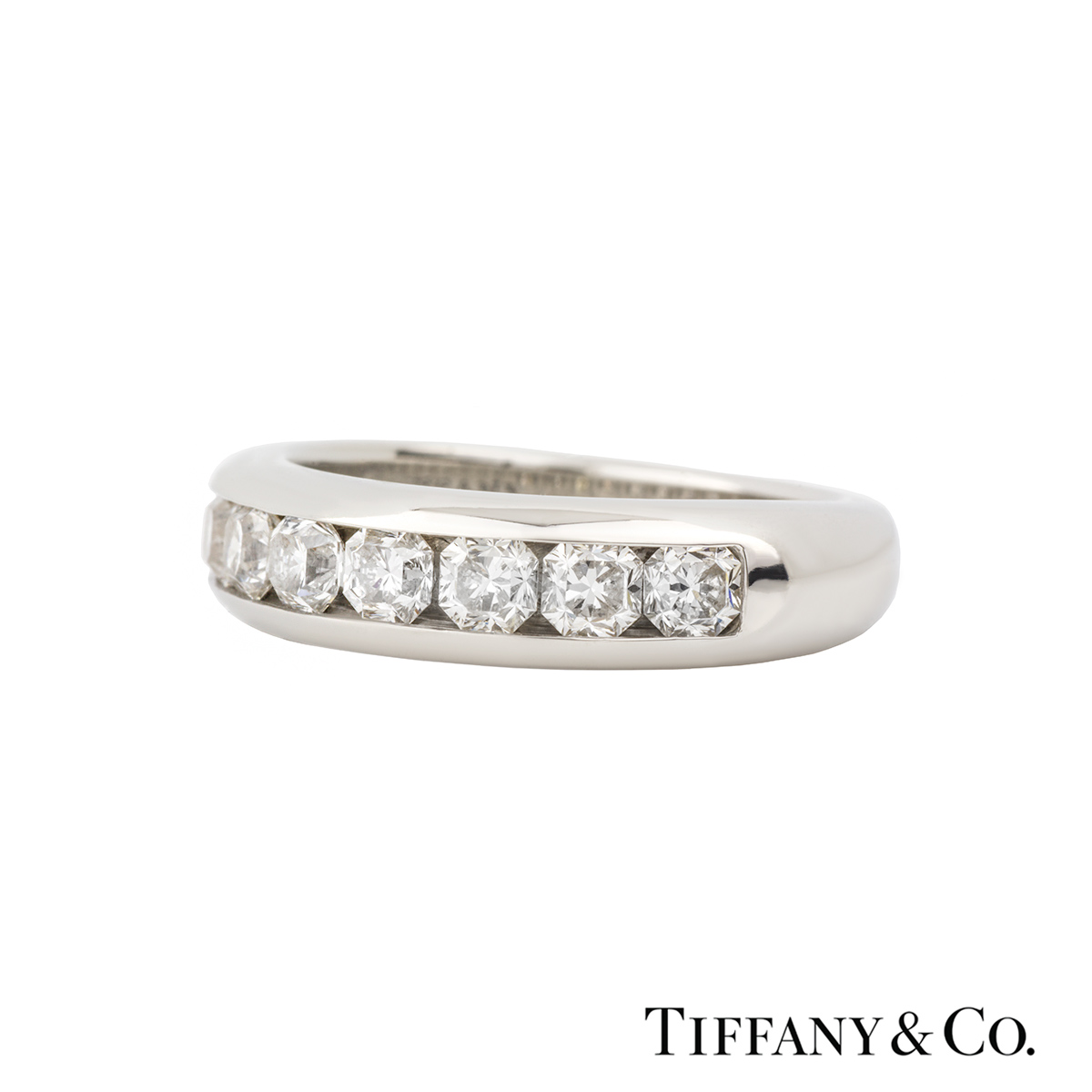 Tiffany Amp Co Lucida Cut Diamond Half Eternity Ring In